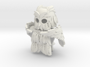 Minifigure Winged (Owl) Armor Set in White Natural Versatile Plastic