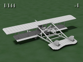 Savoia-Pomilio Farman 1914 in White Natural Versatile Plastic: 1:144