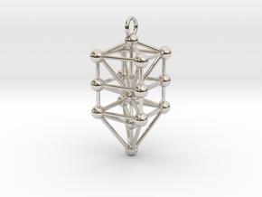 Small Qabalistic Tree of Life Pendant in Platinum