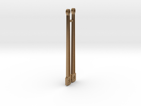 HO piston rods in Natural Brass