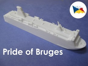 MS Pride of Bruges (1:1200) in White Natural Versatile Plastic