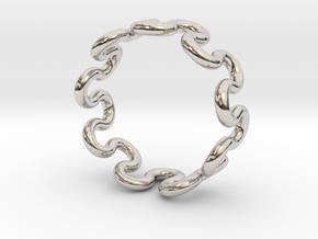 Wave Ring (18mm / 0.70inch inner diameter) in Platinum
