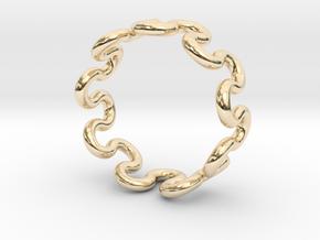 Wave Ring (22mm / 0.86inch inner diameter) in 14K Yellow Gold