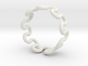 Wave Ring (16mm / 0.62inch inner diameter) in White Natural Versatile Plastic
