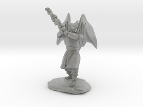 Dragonborn Duskblade in Robe with Greatsword in Metallic Plastic