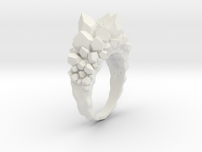 Crystal Ring Size 8,5 in White Natural Versatile Plastic