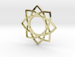 Star Pentagram in 18k Gold Plated Brass