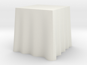 "1:24 Draped Table - 24"" square in White Strong & Flexible"