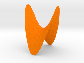 A Hyperbolic Paraboloid, with some Lines in Orange Processed Versatile Plastic