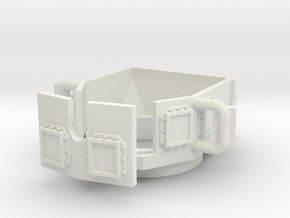 ~1/87 open MRAP/HMMWV turret (repaired) in White Natural Versatile Plastic
