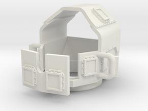 ~1/87 HO M1114-v1-turret-enclosed in White Natural Versatile Plastic