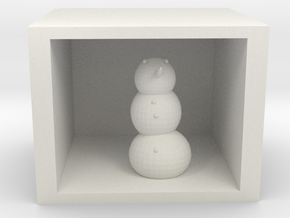 snowman in shadow box in White Natural Versatile Plastic