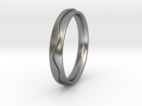 Layered Ring in Natural Silver