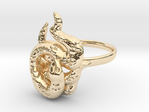 Covetous Gold Serpent Ring, Size 8.5 in 14K Yellow Gold