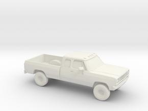 1/87 1972 Dodge Ram Ext. Cab in White Natural Versatile Plastic