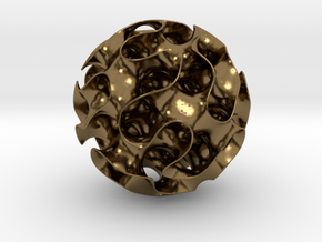 Gyroid in Polished Bronze