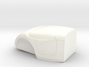1/16 Short Firewall Bantam Altered (no Cut) in White Processed Versatile Plastic