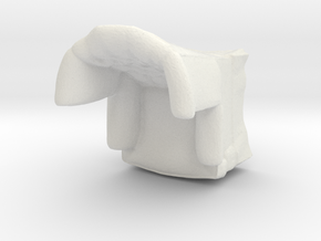 1:43 Tufted Armchair in White Natural Versatile Plastic