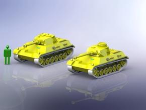 Panzer III/IV Einheitsfahrgestell 1/285 in Smooth Fine Detail Plastic