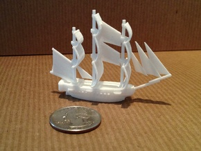 HMS Surprise ~1/1000 scale in White Strong & Flexible