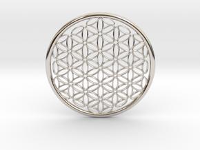 Designer Flower Pendant in Platinum