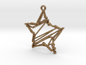 Sketch Star Pendant in Natural Brass