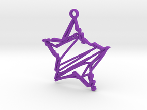 Sketch Star Pendant in Purple Strong & Flexible Polished