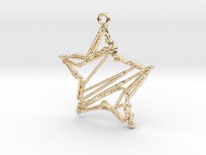 Sketch Star Pendant in 14K Yellow Gold