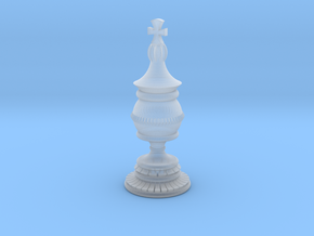 King Chess Piece in Smooth Fine Detail Plastic