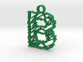 "Sketch ""B"" Pendant in Green Processed Versatile Plastic"