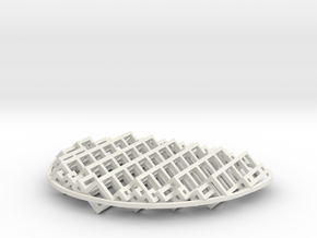 Polylens Cubes in White Natural Versatile Plastic