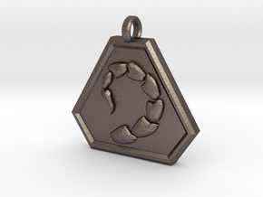 Brotherhood of Nod Pendant - Small in Polished Bronzed Silver Steel