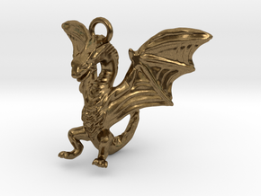 Dragon Charm in Natural Bronze