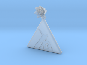 Salsa Earring Figure 1 in Smooth Fine Detail Plastic