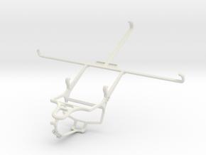 Controller mount for PS4 & Dell Venue 8 Pro in White Natural Versatile Plastic