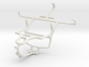 Controller mount for PS4 & Samsung I9190 Galaxy S4 in White Natural Versatile Plastic