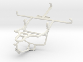 Controller mount for PS4 & Samsung I9500 Galaxy S4 in White Natural Versatile Plastic