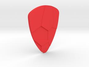 Voronoi  guitar pick in Red Processed Versatile Plastic
