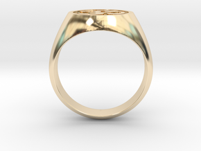 Om Symbol ring in 14K Yellow Gold