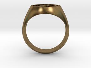 Om Symbol ring in Natural Bronze