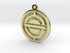 Spacecraft Pendant in 18k Gold Plated Brass