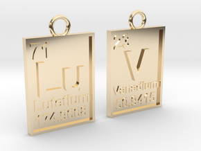 Chemical Luv Pendant in 14k Gold Plated Brass