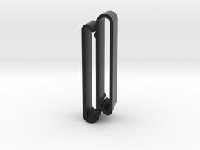 S Belt Clip - Medium Duty in Black Natural Versatile Plastic