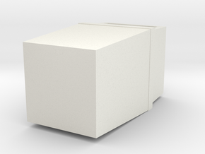 HO Scale Trash Can in White Natural Versatile Plastic