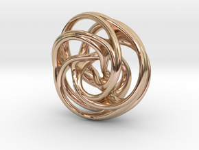Scherk-Collins Earring 2 in 14k Rose Gold Plated Brass