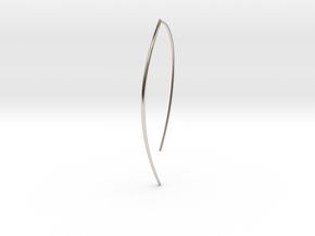 Branch in Rhodium Plated Brass