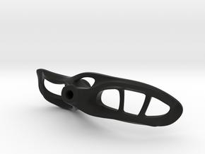 "Aero right joystick handle 3.6"" palm width in Black Natural Versatile Plastic"