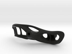 "Aero left joystick handle 3.6"" palm width in Black Natural Versatile Plastic"