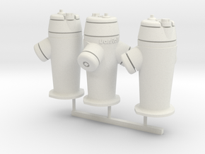 RhB Fire Hydrant set in White Natural Versatile Plastic