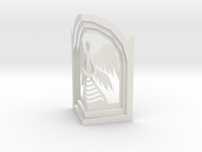 Angel - Prayer in Kiosk in White Natural Versatile Plastic